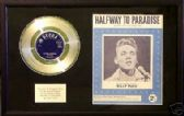 "BILLY FURY - Platinum 7"" Disc & Songsheet - HALFWAY TO PARADISE"